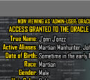 Oracle Files: J'onn J'onzz 3