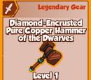 Diamond-Encrusted Pure Cooper Hammer of the Dwarves (Legendary)