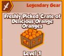 Freshly Picked Crate of Delicious Orange Oranges