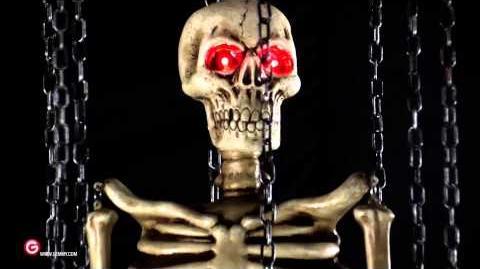 Gemmy Shaking Skeleton
