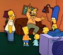 Startled Grampa couch gag