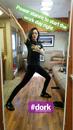 BTS Emma Dumont in her trailer -dork.png