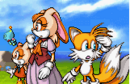 Sonic advance 2 ending artwork Vanilla Cream and Tails.png