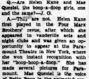 Are Helen Kane and Mae Questel One and the Same?
