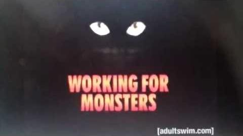 Working for monster logo