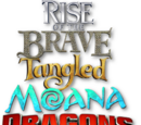 Rise of the Brave Tangled Moana Dragons