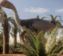 Gigantoraptor and Tumbleweed