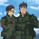 Lieutenant Colonels Jun Kurihama and Akira Kmikoda F 16 pilots Anime episode 16.png