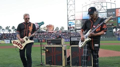 Kirk & James Perform the National Anthem (2017 Metallica Night w the SF Giants)-1502234487