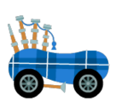 Blue Bagpipe Kart