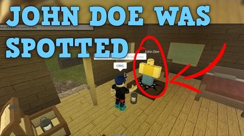 INSANE FOOTAGE OF JOHN DOE FOUND ON ROBLOX GAME!!!