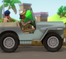 Chingum's Police Jeep