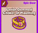 Lavish Gemmed Choker of Flaunting