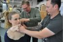 Fractured FX Fitting the water rig to Shannon Lorance with Aubrey's prosthetic makeup 8-26-17.jpg