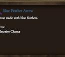 Blue Feather Arrow