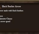 Black Feather Arrow
