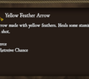 Yellow Feather Arrow