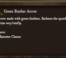 Green Feather Arrow