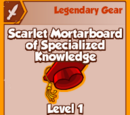 Scarlet Mortarboard of Specialized Knowledge