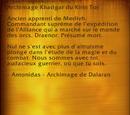 Archimage Khadgar du Kirin Tor (objet)