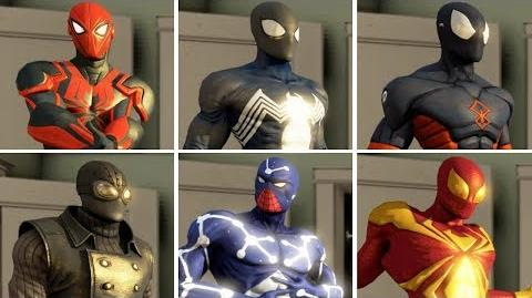 The Amazing Spider-Man 2 (DLC) All Suits and Costumes (Free Roam)