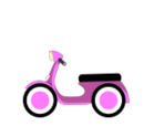 Pink Scooter Motorcycle Kart