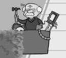 Anciano de Halloween
