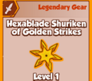 Hexablade Shuriken of Golden Strikes