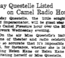 May Questelle Listed On Camel Radio Hour