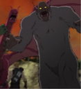 Tricephalous (Earth-12041), Vandoom's Monster (Earth-12041), and Clinton Barton (Earth-12041) from Marvel's Avengers Assemble Season 2 19.png