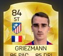 Antoine Griezmann Winter Upgrade Card FIFA 16