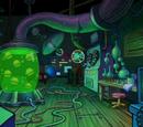 Mr. Krabs' secret laboratory