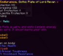 Endurance, Gothic Plate of Lord Revan
