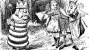 Roi Blanc Alice Lièvre de Mars messager gravure Tenniel Roman De l'Autre Côté du Miroir.png