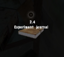 Experiment journal