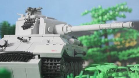 1944 Lego World War Two Tank Battle Panther vs. Sherman Tanks