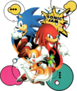 Sonic Jam - Sonic, Tails and Knuckles promotional.png