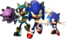Sonic Forces Avatar, Sonic and Classic Sonic key artwork.png