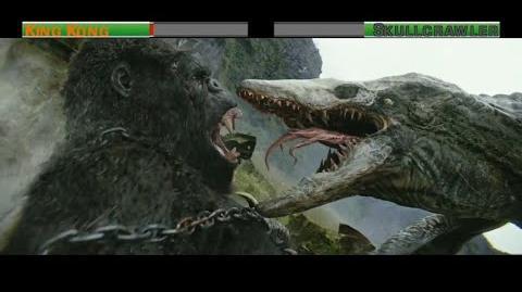 King Kong vs Skullcrawler...with healthbars