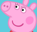 Peppa gets eyelashes