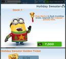 Holiday Sweater Minion Costume