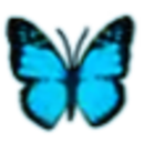 Alice in Wonderland Emoticons bluebutterfly.png