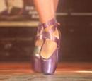 Richelle's pointe shoes