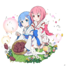 Ram y Rem Niñas Uchihime Collaboration.png