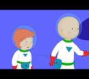 Astronaut caillou and rosie
