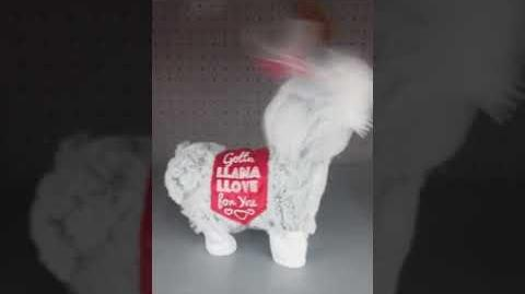 Gemmy animated dancing twerking Valentine llama