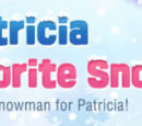Patricia and Her Favorite Snowman!