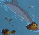 Swimming Sharptooth (The Mysterious Island)
