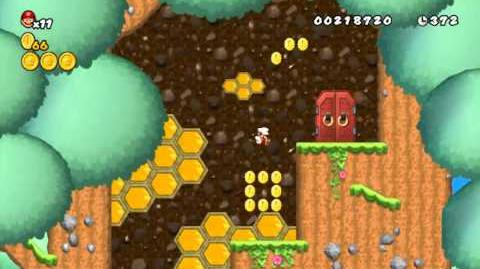 Newer Super Mario Bros Wii World 1-Tower Timber Tower Star Coins