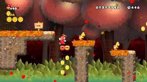 Newer Super Mario Bros. Wii World A-2 Appletree Woods Secret Exit